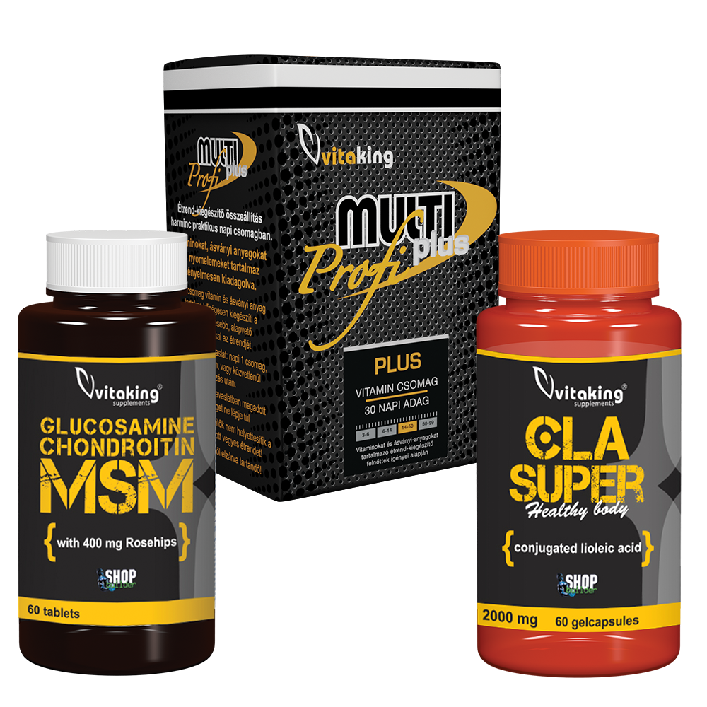 VitaKing Glükozamin + Kondroitin + MSM – 60db tabletta