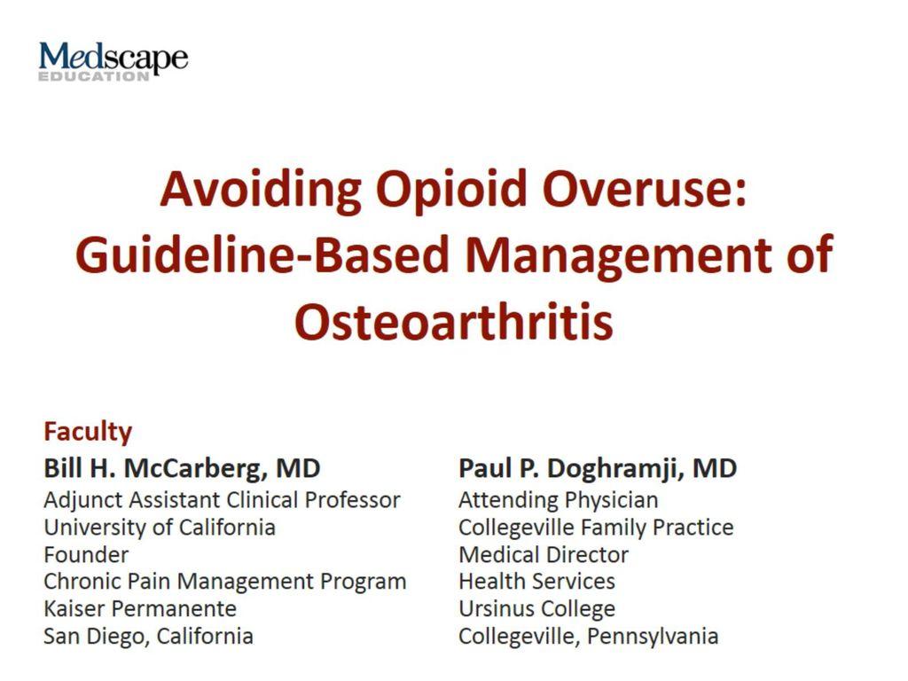 osteoarthritis medscape presentation terd fajas okai
