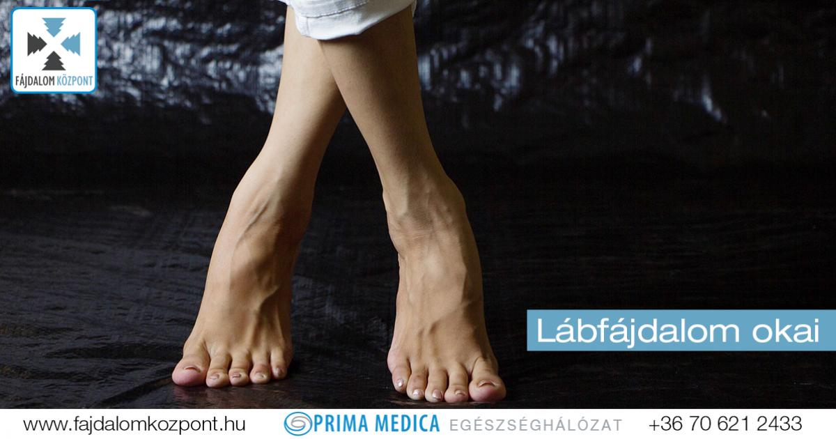 fájdalom a boka lábán