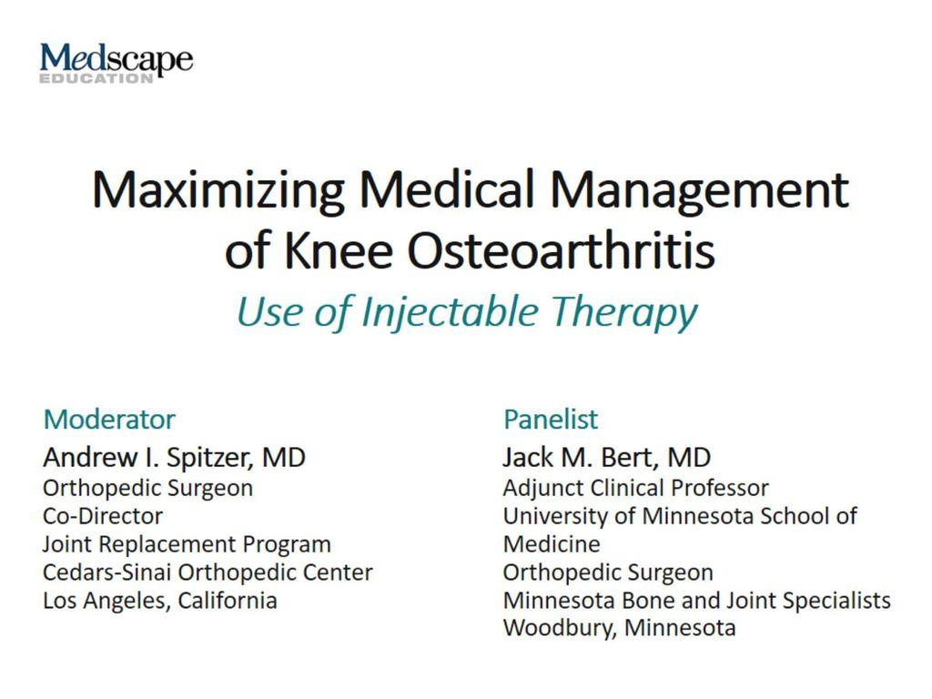 osteoarthritis medscape presentation artrózis kezelése és diagnosztizálása
